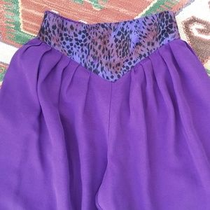 Vintage Purple Animal Print Harem Pants